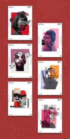 Glasses Poster Design Inspiration Project, Minimalist and Creative Graphic Design - - Poster Design Layout, Poster Design Inspiration, Graphic Design Layouts, Graphic Design Projects, Graphic Design Typography, Modern Graphic Design, Graphic Design Illustration, Design Posters, Typography Poster