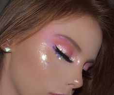 Easy Eye-Catching makeup looks that can make all the difference - Inspired Beauty You can never have to much glitter make up cute Pink Makeup, Makeup Art, Hair Makeup, Makeup Style, Ariel Makeup, Kawaii Makeup, Cute Makeup Looks, Pretty Makeup, Gorgeous Makeup