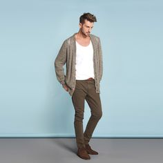 """ZARA Men    I like the muted colours. It is the perfect outfit for walking around central park with hay fever, looking super chic while digging inside a jack spade shopper for a ventolin inhaler, like """"I'm totally world weary but I need to prevent my airway from closing up while I look urbane and jaded."""" I love this."""