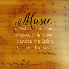 Let your soul sing. xo Get the app of beautiful wallpapers at ~ www.everydayspirit.net xo #music #singing #chorus