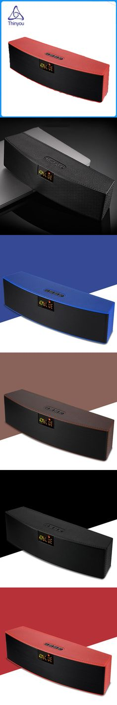 Thinyou New LED Display Screen Mini Wireless Bluetooth Speaker 10W Portable  Sound System 3D Stereo Music Surround HIFI Subwoof