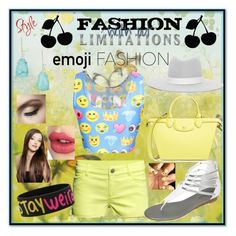 """Emoji Craze"" by crazybae120 on Polyvore featuring Longchamp, H&M, Janessa Leone, Charlotte Tilbury and Kendra Scott"