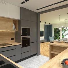 Kitchen Furniture, Furniture Design, Contemporary Kitchen Design, Modern Contemporary, Cozy Room, Minimalist Kitchen, Home Organization, Home Kitchens, Kitchen Cabinets