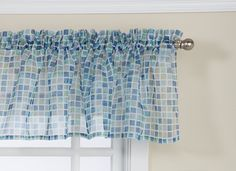 Lorraine Home Fashions Tiles Tailored Valance, 54 by 12-Inch, Blue/Green >>> Visit the image link more details.