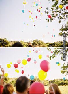 balloon release | CHECK OUT MORE IDEAS AT WEDDINGPINS.NET | #weddings