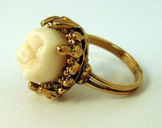 Tooth ring! Disturbing or fashionably bizarre?