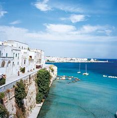This is something we could seriously get used to. How beautiful is the water here in Puglia, Italy?