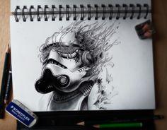 Voici le magnifique travail de l'illustrateur français Pierre-Yves Riveau aka PEZ.