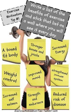 Exercise Motivation Tip 1 - Write a list of the benefits of exercise and stick that list on a wall where you will see it every day. Easy Weight Loss, Healthy Weight Loss, Healthy Mind, Healthy Habits, Reduce Weight, How To Lose Weight Fast, Weight Loss Motivation, Fitness Motivation, Exercise Motivation