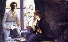 Femmes peintres- Louise Breslau  1856-1927   le peintre en tablier blanc avec Madelaine Zillhard