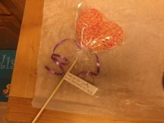 """My three-year-old wanted """"princess wands"""" at her birthday party. Instead of making gift/goodie bags - we made rice crispy treat princess wands to take home. (I did a hand-written note attached that said """"Thank you for coming, you've SWEETENED my day!"""") Easy!"""