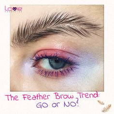 Feather brows are a whimsical way to add some fun to your forehead. Searches for feather brows YoY Makeup Trends, Makeup Inspo, Beauty Trends, Makeup Art, Makeup Inspiration, Beauty Hacks, Hair Makeup, Eyebrow Trends 2017, Eyebrow Beauty
