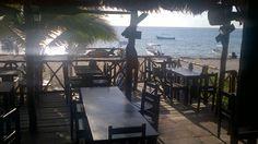 Puerto morelos beach side seafood restaurant