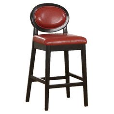 Barstool in Red Leather.