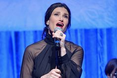 Idina Menzel sings along with the cast of FROZEN to celebrate the Oscar-nominated soundtrack at Vibrato Jazz Club