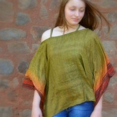 Tunic Top CoverUp in Recycled Silk Saris by MahimaCreations, $25.00 #etsy #ethicalfashion