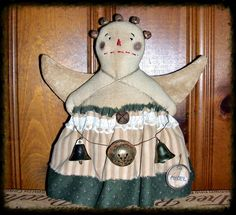 Folk ArT CHRiStMaS RaGGeDy ANNiE ANGeL DoLL TRee by primsgonewild