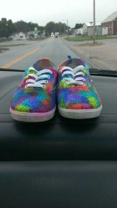 Tye dye sharpie shoes