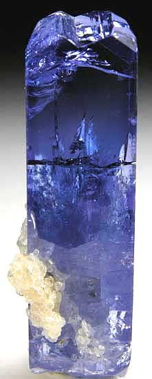 Prehnite on Tanzanite have a look at the mystical ship journeying through the indigo sea