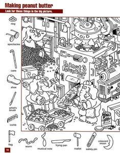 task for development of attention Hidden Object Puzzles, Hidden Picture Puzzles, Hidden Objects, File Folder Activities, Alphabet Activities, Preschool Activities, Kindergarten Learning, Alphabet Worksheets, Learning English For Kids