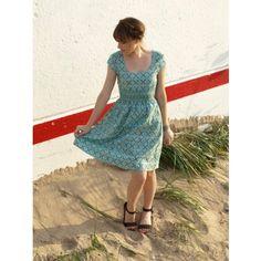 Blue Forget Me Not Dress   Eco Fashion