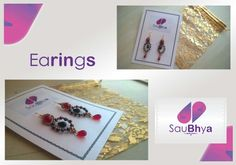 Another order for Saubhya and this time it was earings. Red, Black and Gold.