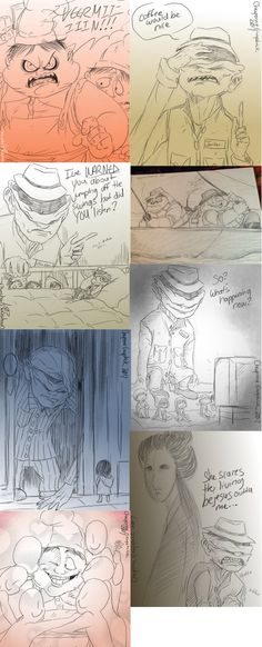 Little Nightmares doodles -10- by Cageyshick05