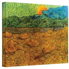 Art Wall Evening Landscape with Rising Moon by Vincent Van Gogh Gallery Wrapped Canvas, 36 by 48-Inch by Art Wall, http://www.amazon.com/dp/B00A9T1DLM/ref=cm_sw_r_pi_dp_5E-Drb1P7QKQV