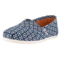 Toms Women's Classic Navy Diamond Woven Casual Shoes