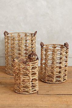 Spiral Weave Storage Baskets - anthropologie.com
