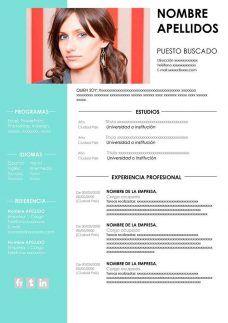 Modelo De Curriculum De Trabajo Modelos De Cv Plantilla De Curriculum Vitae Plantillas Curriculum