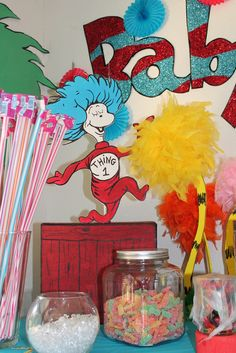 "Dr. #Seuss baby shower ideas ""Babyville"""