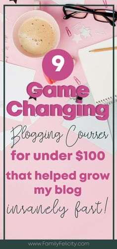 Looking for blogging courses to grow your blog fast within needing to invest hundreds of dollars? Click to get the list of my favorite courses for bloggers that finally took my blog to the next level! #Blogging #Bloggingtips
