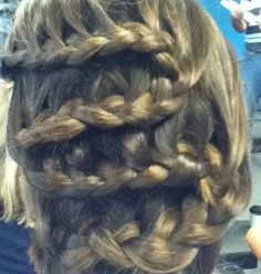 Waterfall braid. Just flip when you reach the end of your head