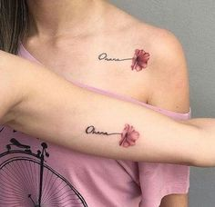 65 Epic Tattoo Designs For Women And Their Best Friends - Page 3 of 65 - Chic Hostess - best friend tattoos; Bff Tattoos, Tattoo Bein, Family Tattoos, Mini Tattoos, Body Art Tattoos, Small Tattoos, 3 Best Friend Tattoos, Tattoos For Friends, Tatoos