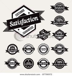Stock Vector Illustration:  Retro High Quality Labels Collection