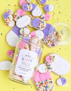 Happy Pill Cookies ~ Make. Bake. Celebrate.