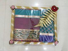Saree packing Wedding Gift Wrapping, Wedding Cards, Wedding Gifts, Wedding Ideas, Trousseau Packing, Bengali Wedding, Mehndi Decor, Marriage Decoration, Wedding Mandap