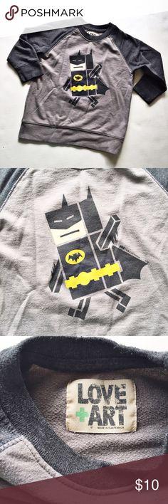 Batman Sweatshirt Size 5T lightweight sweatshirt. Perfect for fall or spring! Some pilling from washwear. Shirts & Tops Sweatshirts & Hoodies