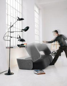 UPHOLSTERED FABRIC SOFA BED REVOLVE BY PROSTORIA BY KVADRA LTD | DESIGN ROBERTA BRATOVIC, IVANA BOROVNJAK, NUMEN / FOR USE