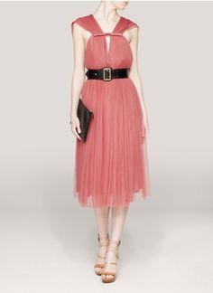 Lanvin - Pleated tulle dress | Pink Cocktail Dresses | Womenswear | Lane Crawford - Shop Designer Brands Online