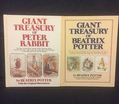 Vintage Giant Treasury of Beatrix Potter & Peter Rabbit Book Set Easter Spring