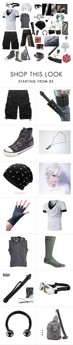 """Gizmo Nomad: Shade academy"" by okamikun ❤ liked on Polyvore featuring Ash, Eleventy, 5.11 Tactical, Universal, Harley-Davidson, Urbiana, American Eagle Outfitters, men's fashion and menswear"