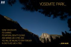 John Muir Quote with Yosemite image