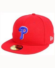 New Era Philadelphia Phillies Classic Gray Under 59FIFTY Cap - Red 7 1/4