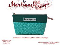 Feiner Kulturbeutel  Beautycase (Vlieseinlage) von MartinaH-Design auf DaWanda.com