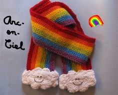 Rainbow  clouds scarftoo cute