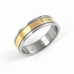 Unisex snubní prsten Silvego z chirurgické oceli R6614-H-2 velikost 69