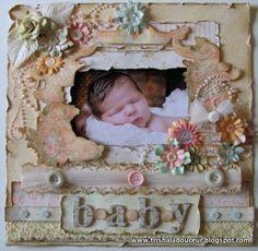 Baby Layout - Graphic 45 - www.trishaladouceur.blogspot.com