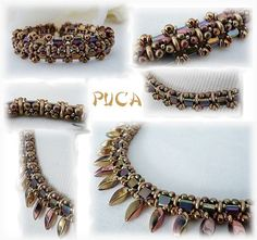 Schema necklace and bracelet Florine by Pucashop on Etsy
